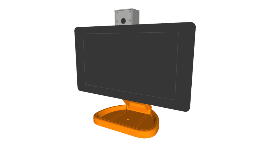 PiMac - Raspberry Pi 7 Inch Touch Screen Stand (with Camera) 3D Print 261061