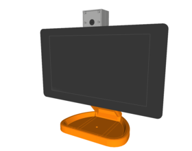 Pin PiMac - Raspberry Pi 7 Inch Touch Screen Stand (with Camera) 3D Printing 261061