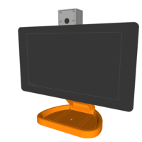 Small PiMac - Raspberry Pi 7 Inch Touch Screen Stand (with Camera) 3D Printing 261061