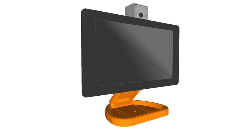 PiMac - Raspberry Pi 7 Inch Touch Screen Stand (with Camera) 3D Print 261066