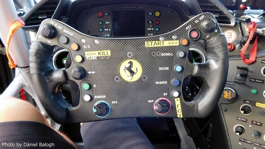 DIY FERRARI 488 GT3 Steering Wheel