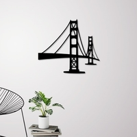 Small GOLDEN GATE BRIDGE WALL ART 3D Printing 261607