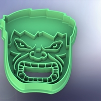 Small Cookie cutter Hulk-100  (Free) 3D Printing 261692