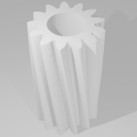 Small Helical Gear 3D Printing 261736