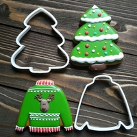 Small Cookie Cutters- Christmas tree and Sweater 90 (Free) 3D Printing 261773