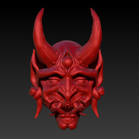 Small Oni Mask V2 3D Printing 261792