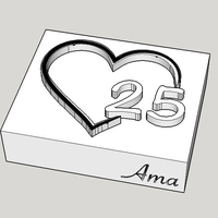 Small Silver Wedding Soapstamp 3D Printing 261869