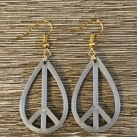 Small Peace earrings 3D Printing 261906