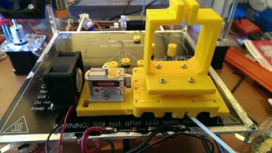 Modified prusa i3 x-carriage with Laser support 3D Print 26193