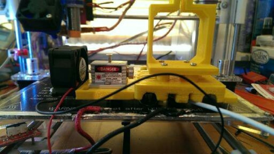 Modified prusa i3 x-carriage with Laser support 3D Print 26194