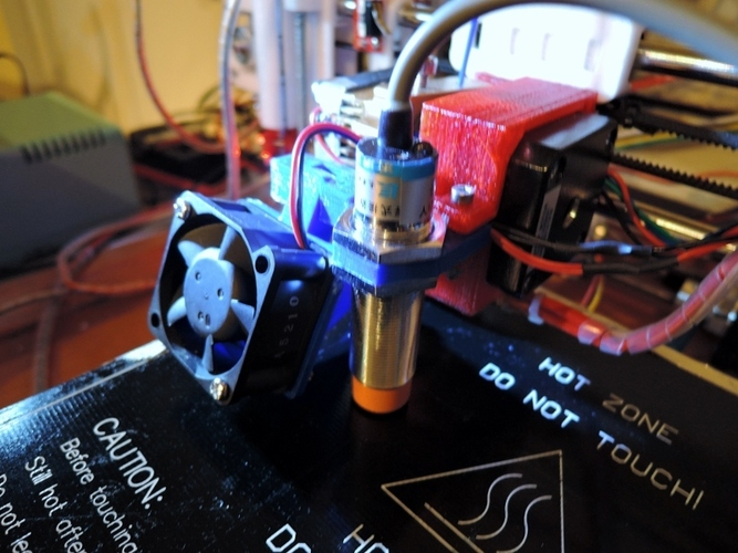 Sintron Prusa i3 MK8 Extruder Proximity sensor and cooling fan m 3D Print 26196