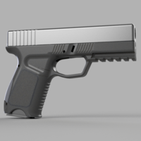 Small Frame for kjw airsoft glock 19/23 3D Printing 261983