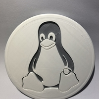 Small Tux drinkcoaster (pair) 3D Printing 262055
