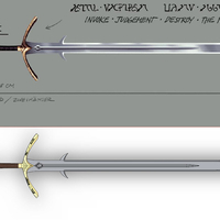 Small Yasha Critical role Magian's judge sword 3D Printing 262063