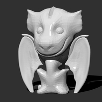 Small Drogon Desktop Figure (Low Poly) 3D Printing 26240