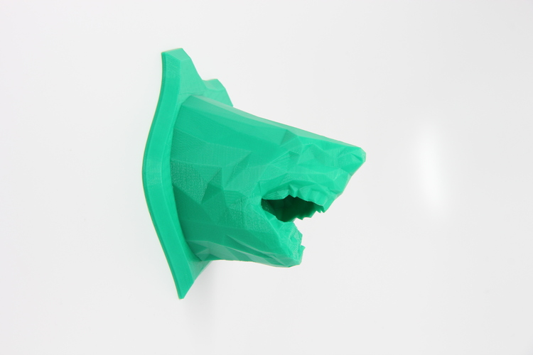 Low Poly Shark Wall Trophy 3D Print 26256