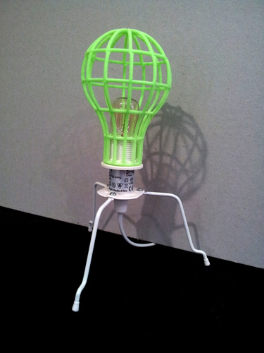 Lightbulb Mesh Lampshade 3D Print 26279