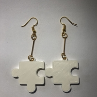 Small puzzle earrings 3D Printing 262832