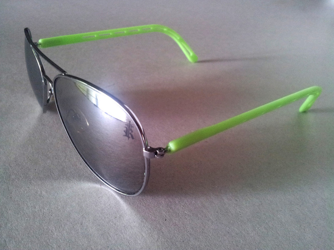 Replacement Arms for Sunglasses 3D Print 26285