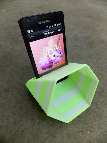 3d printed hex phone sound amplifier by edditive | pinshape