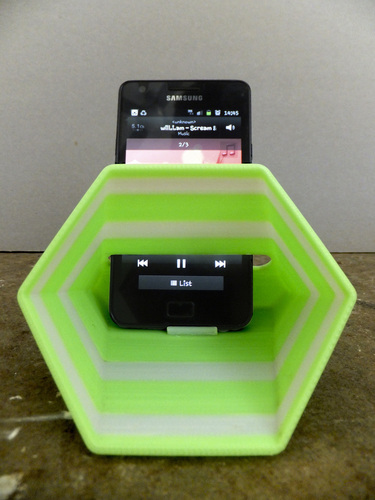 Hex Phone Sound Amplifier 3D Print 26287