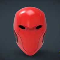 Small Red Hood  Helmet -mask life size 3D Printing 262907