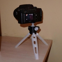 Small Camera tripod with ball joint and strong screw 3D Printing 262956