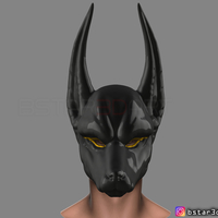 Small Anubis - Anpu - ancient Egyptian god Mask for cosplay 3D Printing 262964