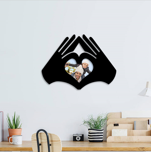 love hands photo frame  3D Print 262980
