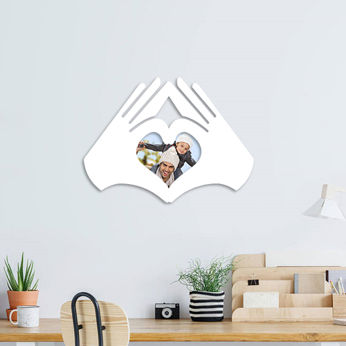 love hands photo frame  3D Print 262982