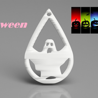 Small Halloween earrings: 'ghost' 3D Printing 263020