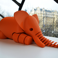 Small Elephant 3D Printing 2632