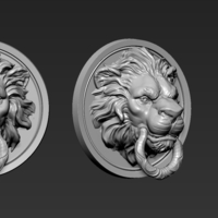 Small Lion Head 3D Printing 263272