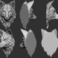 Small Wolf head 3D Printing 263301