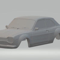 Small ford escort rs  slot car 3D Printing 263458