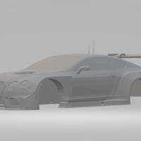 Small bentley continental gt3 3D Printing 263460