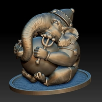 Small Ganesha - statuette - figure - 2019 3D Printing 263636
