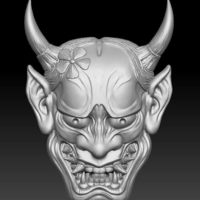 Small Hannya Mask -relief 3D Printing 263661
