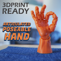 Small Articulated Poseable Hand 3D Printing 263839