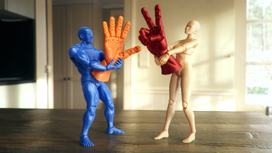 Articulated Poseable Hand 3D Print 263847