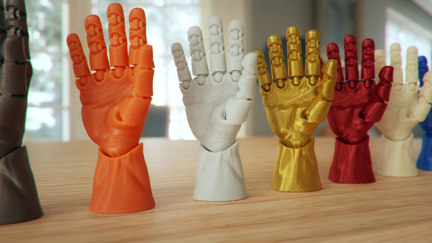 Articulated Poseable Hand 3D Print 263848