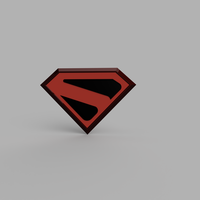Small The CW Kingdom Come Superman Chest Emblem 3D Printing 263975