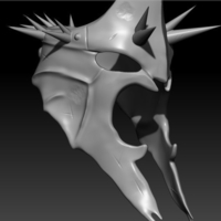 Small The Witch King Helmet Mask 3D Printing 263987