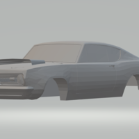 Small plymouth barracuda 68 3D Printing 264035