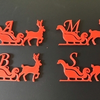 Small CHRISTMAS REINDEER 3D letters stl file 3D Printing 264082