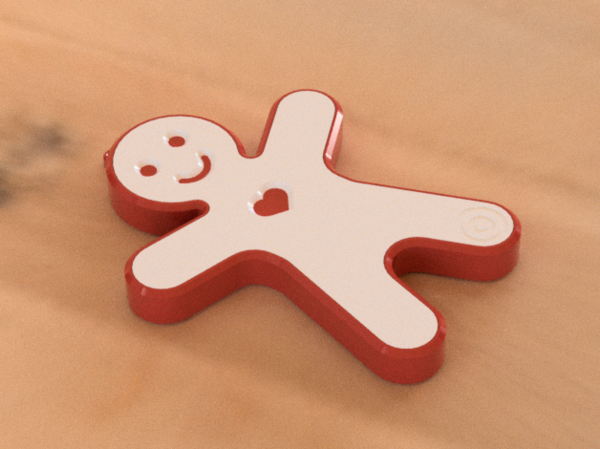 Medium Gingerbread Man Speaker Christmas Gift for Family and Friends 3D Printing 264104