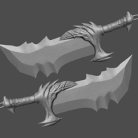 Small Blade of Kratos From God of War - Fan Art 3D print model 3D Printing 264230