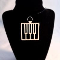 Small Piano Keys Pendant 3D Printing 26446