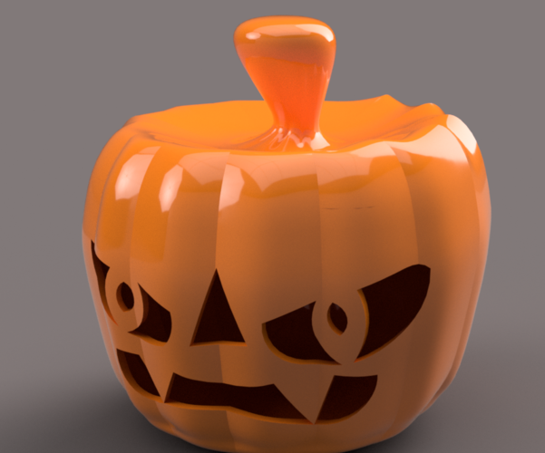 real halloween pumpkin v11 candlestick magic ritual for 3d 3D Print 264460