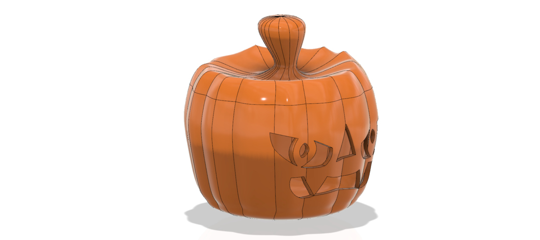 real halloween pumpkin v11 candlestick magic ritual for 3d 3D Print 264463